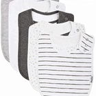 Super Soft &Absorbent Dicaro Unique 100% Cotton Terry Cloth Fleece Materials Baby Snap Bibs for Boys&Girls