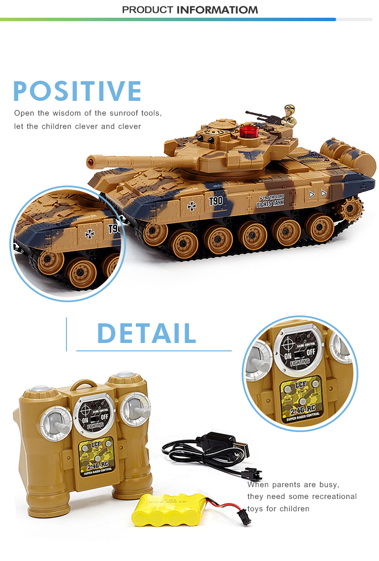 2.4G plastic battle rc mini parts rc toy tank