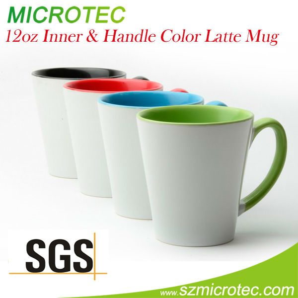 Microtec New Latte inner ceramic solid color coffee mugs