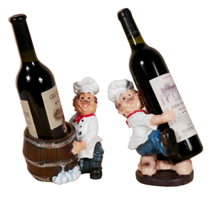 Home Craft Decoration Resin Character Wine Rack