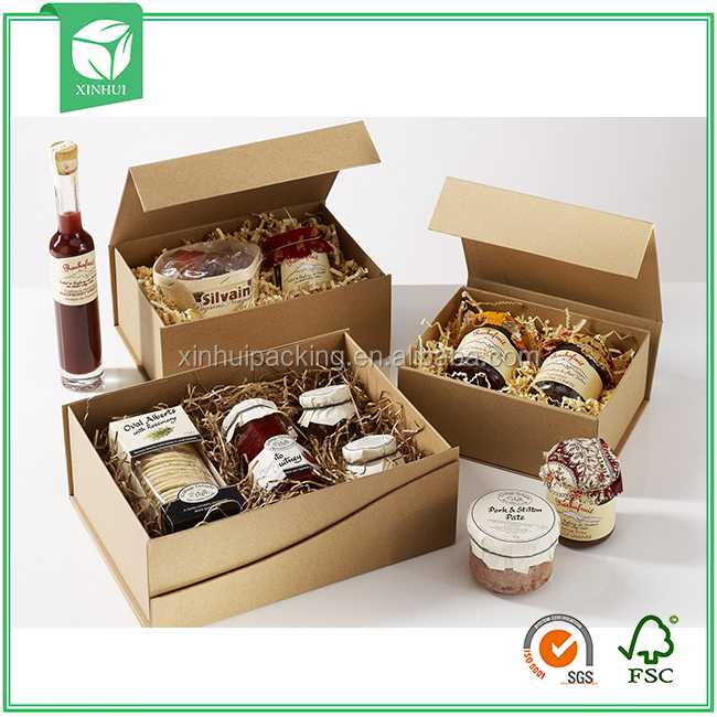 Foldable Kraft Food Packaging Brown Kraft Jewelry Box