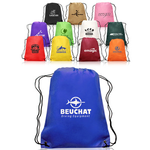 Foldable Reusable Drawstring Bags Custom Print