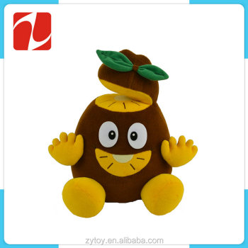 Soft stuffed cute plush kiwi fruit toy for kids