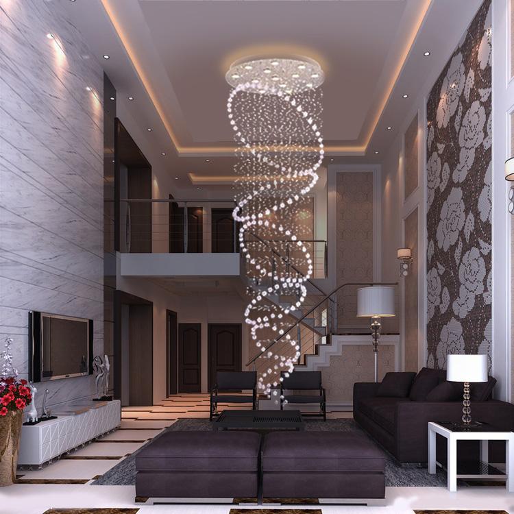 Lighting Basement Washroom Stairs: Crystal-lamp-modern-brief-crystal-pendant-light-lighting
