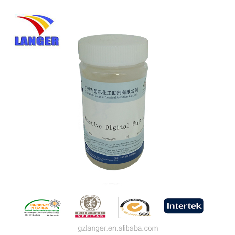 reactive digital ink jet printing pulp for direct digital polyester fabric pre-treatment LA-17B