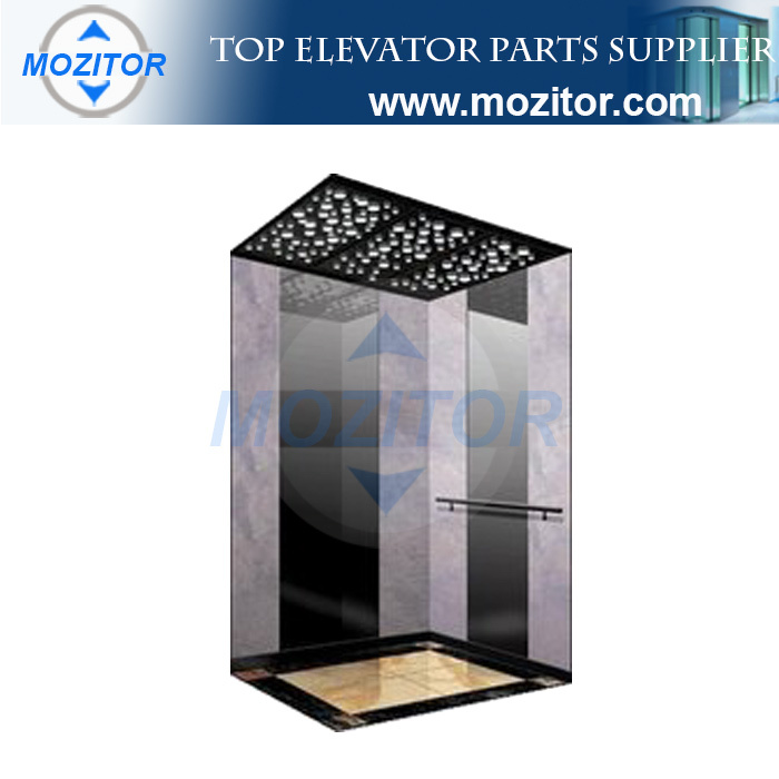 Popular 6 person mirror hairline passenger elevator