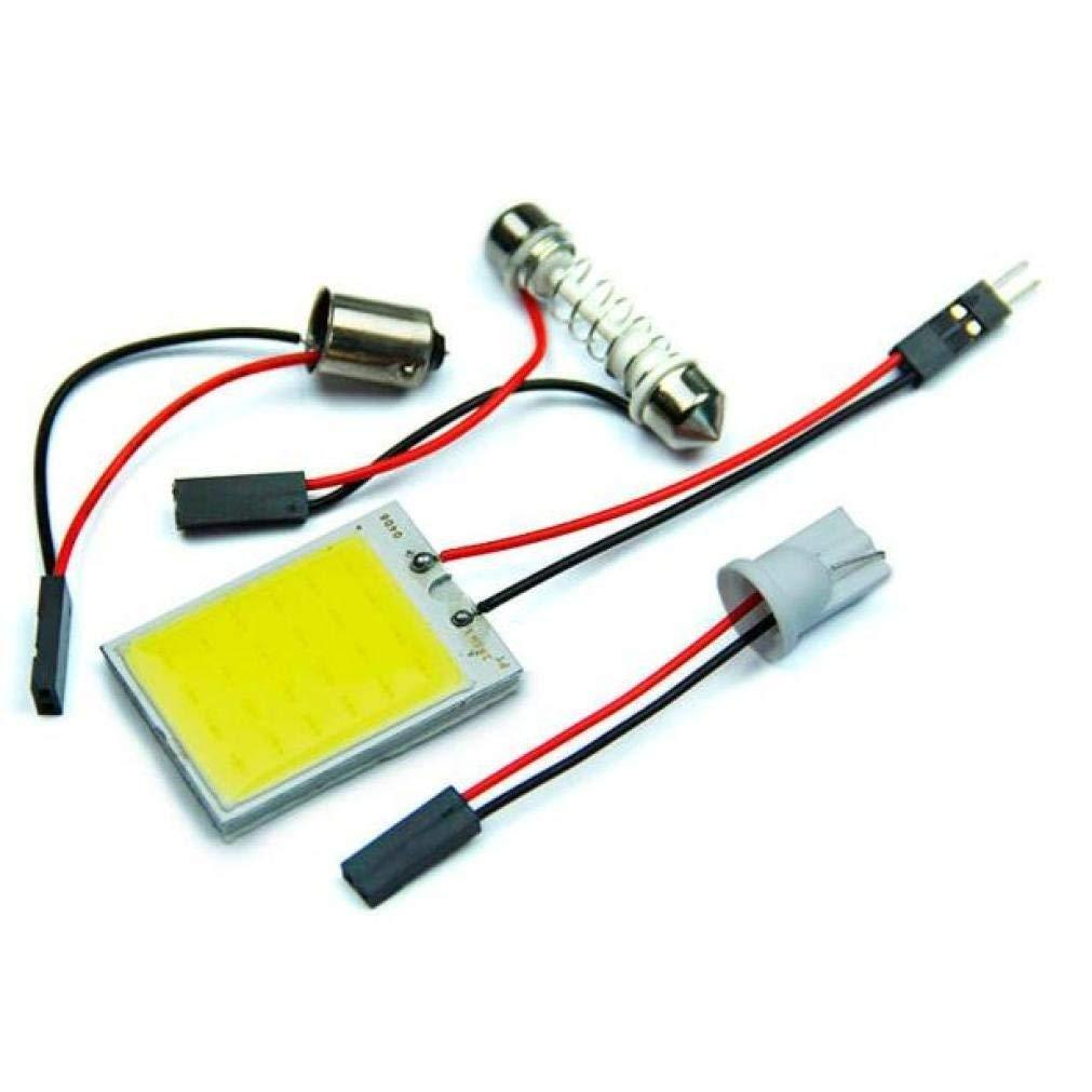 Quaant Car LED Light,Universal 4pc 8W Car COB 24 Chip LED Car Interior Light T10 Festoon COB 12V Panel Light Car Parking Light (Yellow)