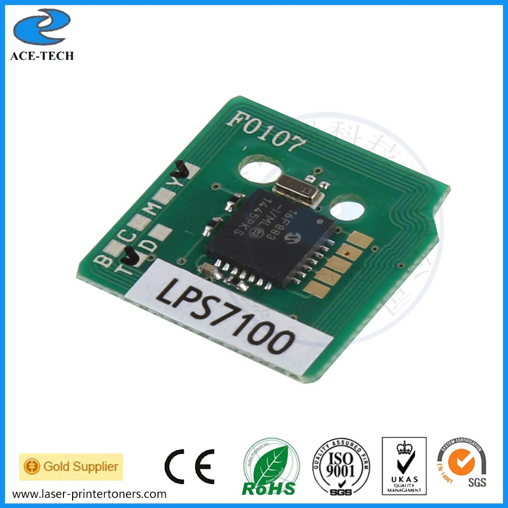 Compatible toner reset chip for Epson LP-S7100 8100 laser refill cartridges for LPC3T18 KCMY