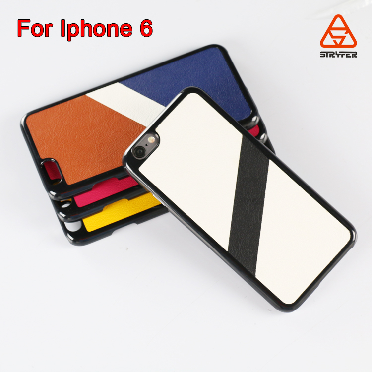 For Apple for iPhone 6 mobile phone cover with leather, high quality and feel good in hand