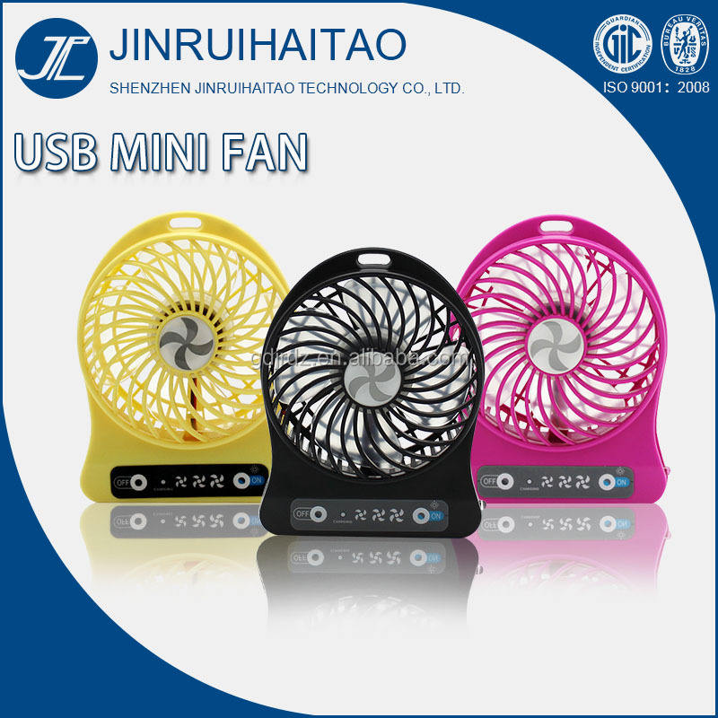 Colorful Mini Portable Desktop Rechargable USB Powered Cooling Fan for Home/Office