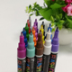 Rich colors 1mm cd Durable Fast-drying white permanent pen marker for DIY on fabric