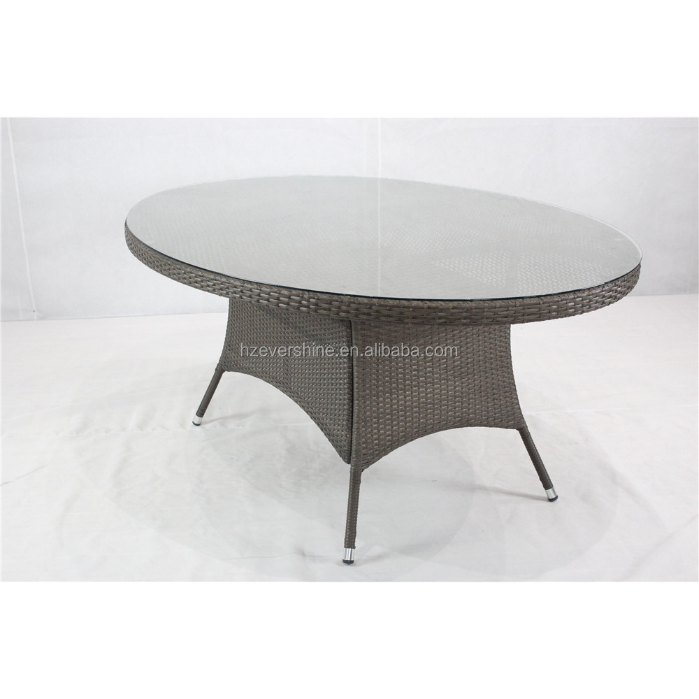 K.D. Steel Frame Outdoor Rattan Oval table