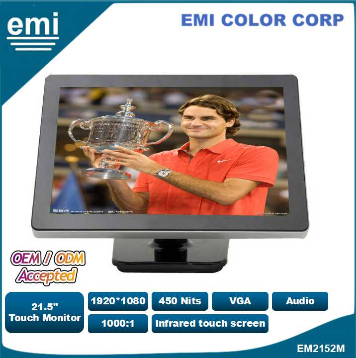 21.5 inch Infrared Touch Screen Monitor , LCD with touch screen function