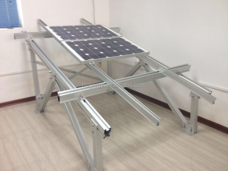 Ground Screw Aluminum Extrusion Solar Panel Frame Solar
