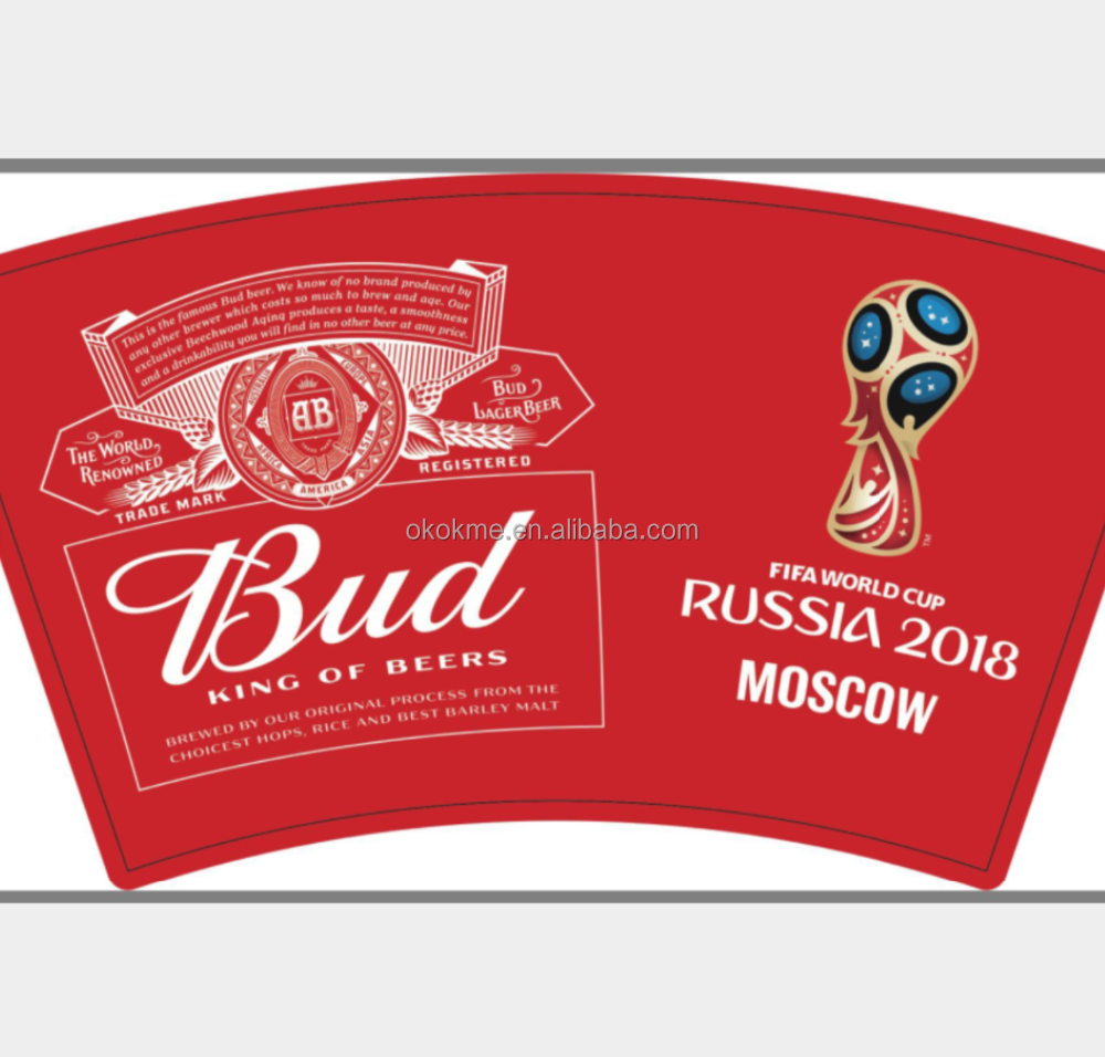 Advertising promotion polyester triangle square flag for world cup and beer company