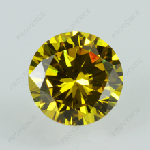 Large supply AAA grade round brilliant cut yellow loose cubic zirconia gemstones