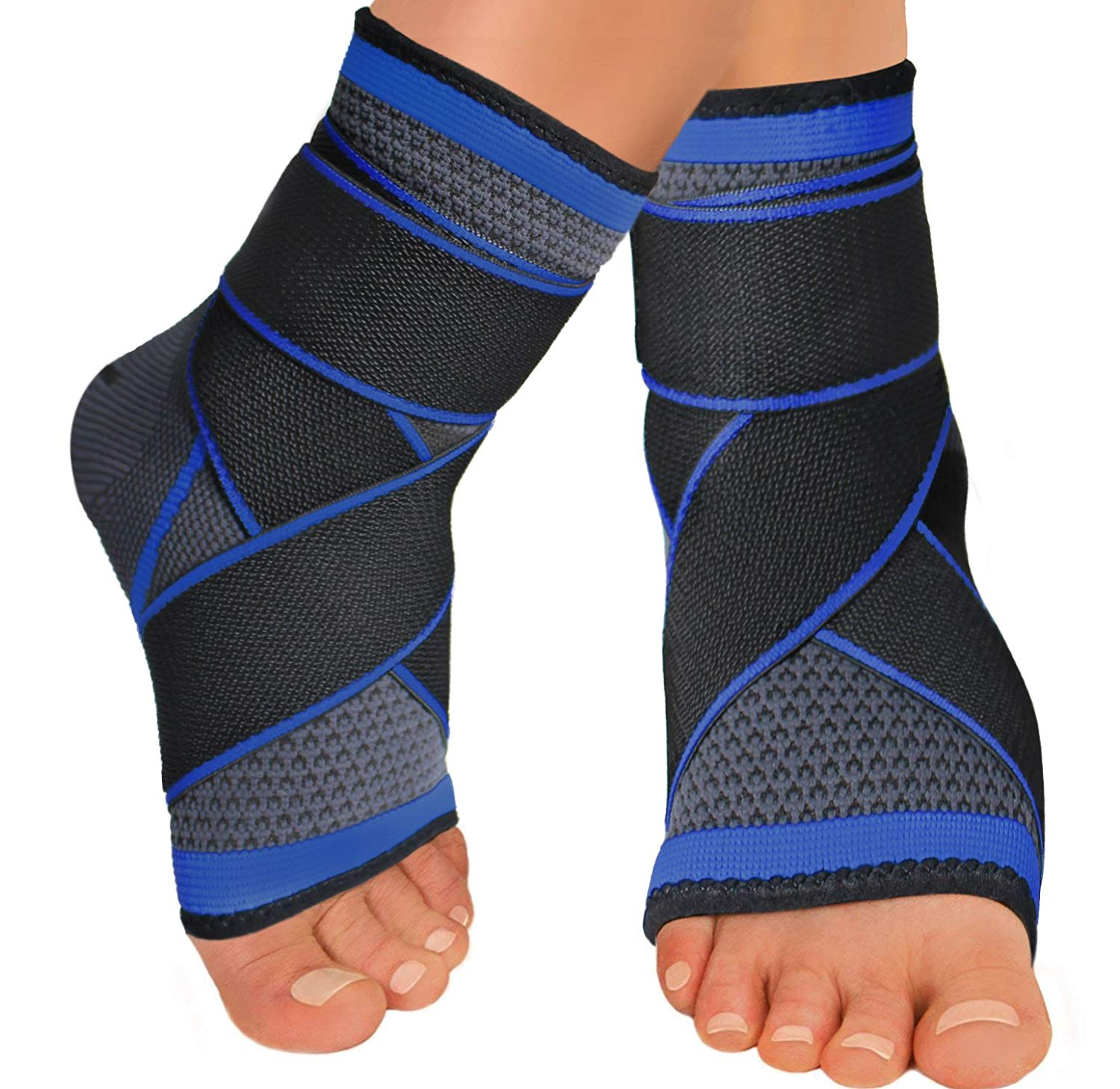 e30a3cc0c8 Get Quotations · Sport Foot Socks, Ankle Brace Compression Support Sleeve  with Wrap, Breathable Arch Support for