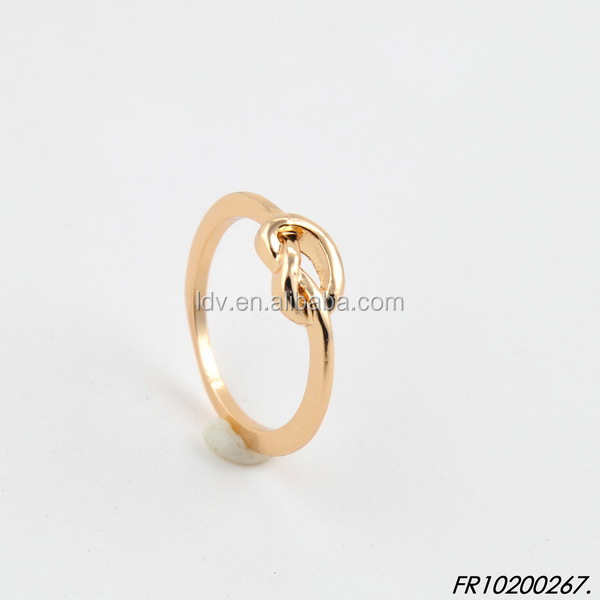 Mini cute gold knot ring jewelry
