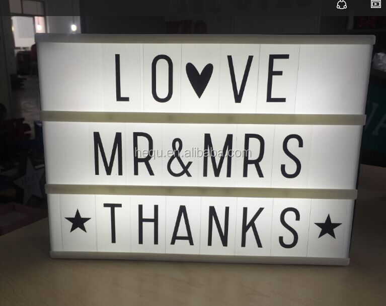 Customisable A4 Acrylic Light Box High Quality Letters Combinated ...