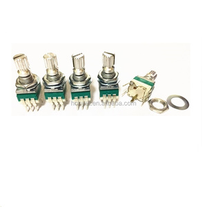9mm single gang with push push switch potentiometers,hard turning feel