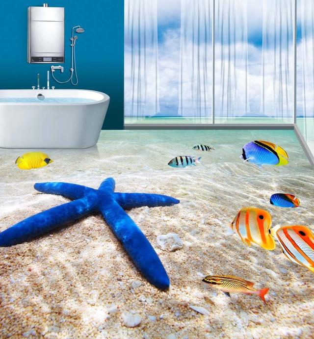 3d azulejos para ba o seaworld porcelana de imagen pared y - Vernici per piastrelle bagno prezzi ...