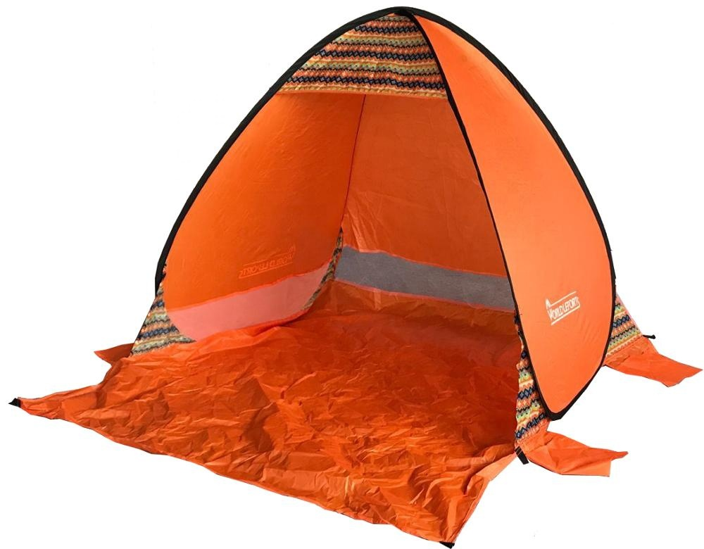 Facile à installer rouge portable tente d'ombre de plage avec UV50