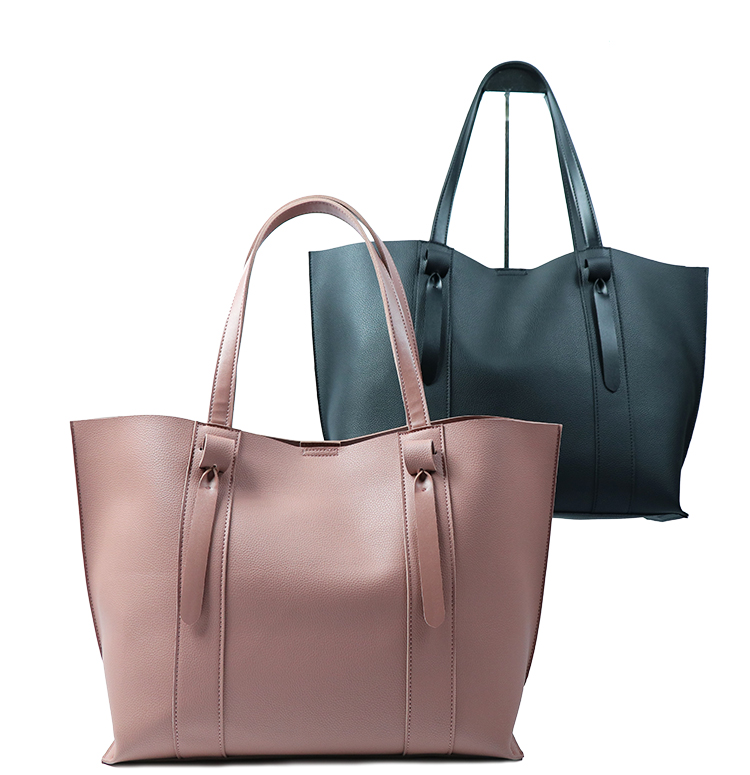 Latest fashion useful pink tote ladies bags simple design no label women pu leather handbag