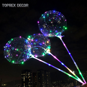 Party decorations High Quality Natural Latex LED air balloon