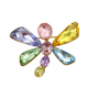 x0421005 xuping large crystal butterfly jewelry manufacturers women Rhinestone brooch