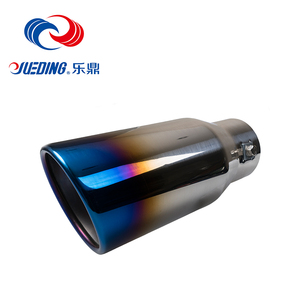 High performance car exhaust 304 Stainless steel Hemming outlet Mirror polish and bluing