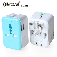 Hotest selling items 110v~240v plug adapter compact design Europe/American/Australia universal charger adapter world usb
