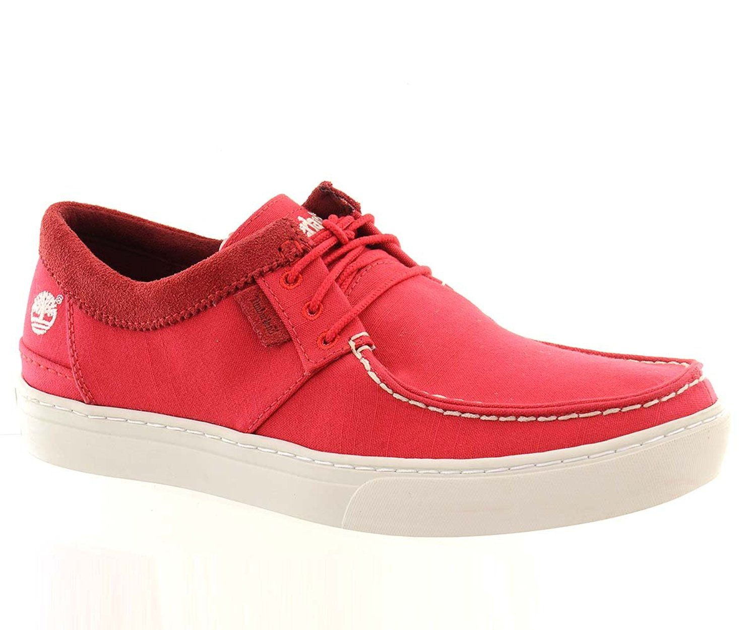 e4563b4297cf Get Quotations · Timberland Mens Casual Boat Shoes 23183 Red Canvas