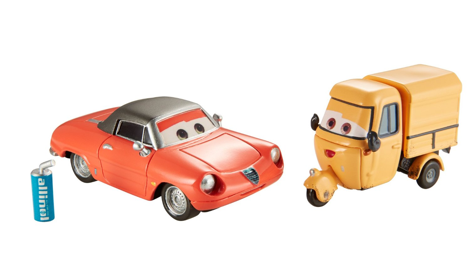Disney/Pixar Cars, Allinol Blowout Die-Cast Vehicles, Shawn Krash and Sal Machiani #4-5/9, 1:55 Scale