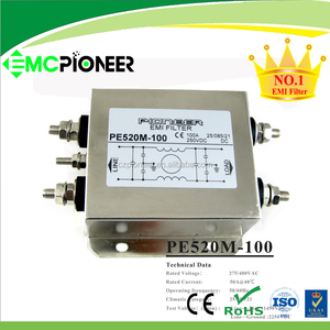 OEM EMI pi filter PE520,single phase EMI pi filter with ROHS