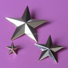 3 size bronze star pin badge butterfly clasp