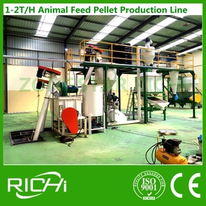 2017 new design high output agro animal feed pellet press line