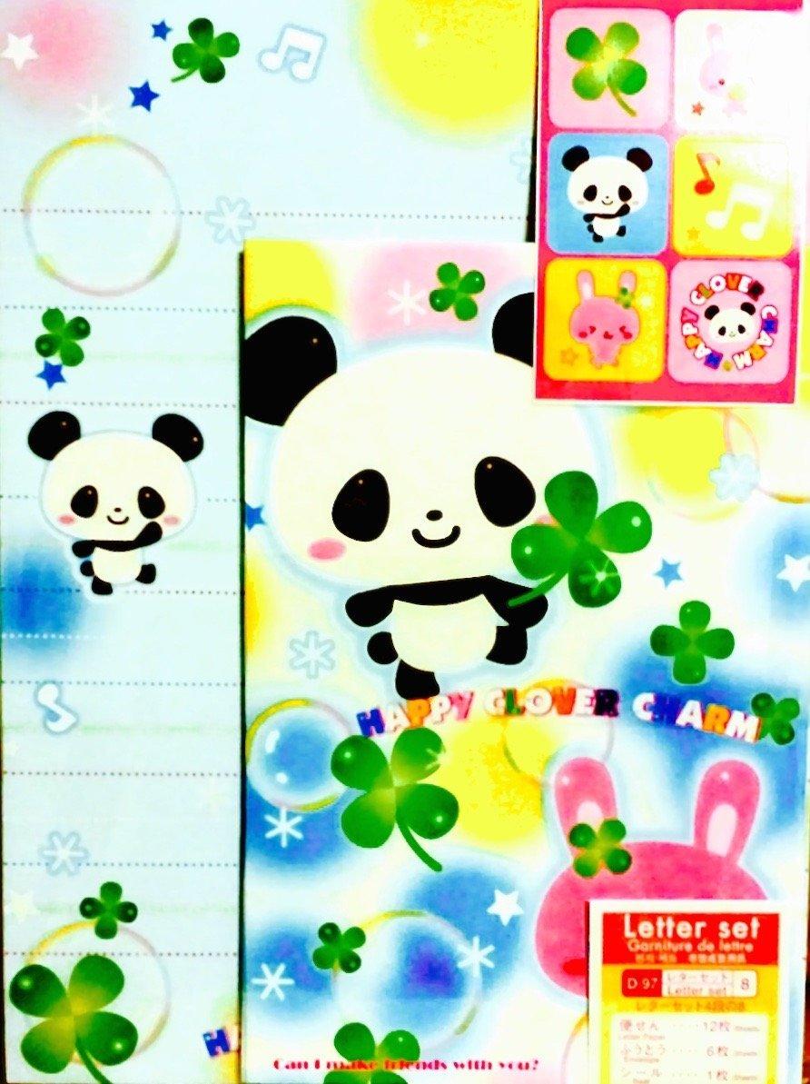 12 Envelope 24 Cute Design Writing Stationery Paper Letter Set - #2 (Japan Import)