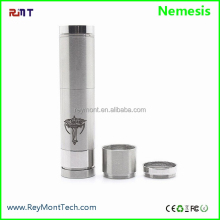 1:1 Clone RMT Tobeco Nemesis Mechanical Mod Featured 100% Mechanical, Made of Stainless Steel, Lockable Bottom Firing Switch