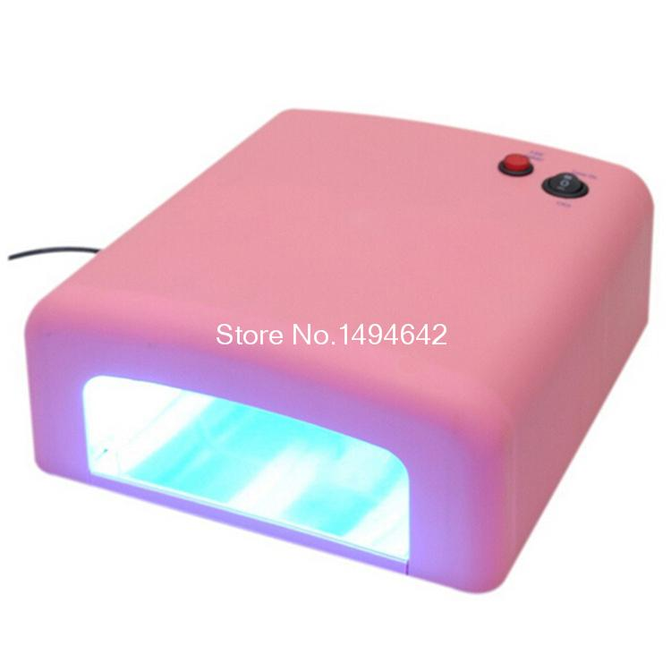 Pink UV Lamp 36W 220-240V Gel Curing Nail Art (EU US Plug) with 4pcs UV Bulb DIY Tools nail timer dryer nail art equipment/tools
