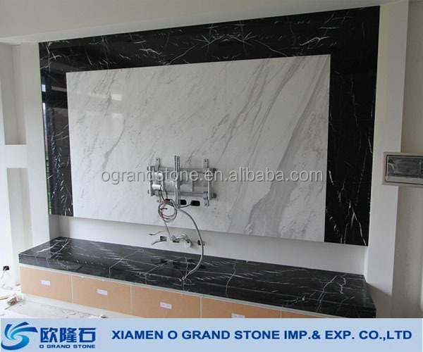 white marble tv background wall panel,tv background wall design