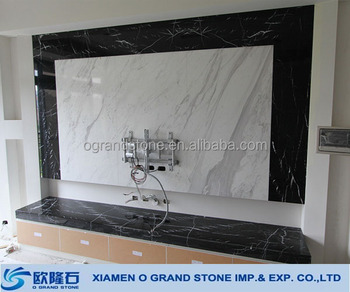 White Marble Tv Background Wall Panel Tv Background Wall