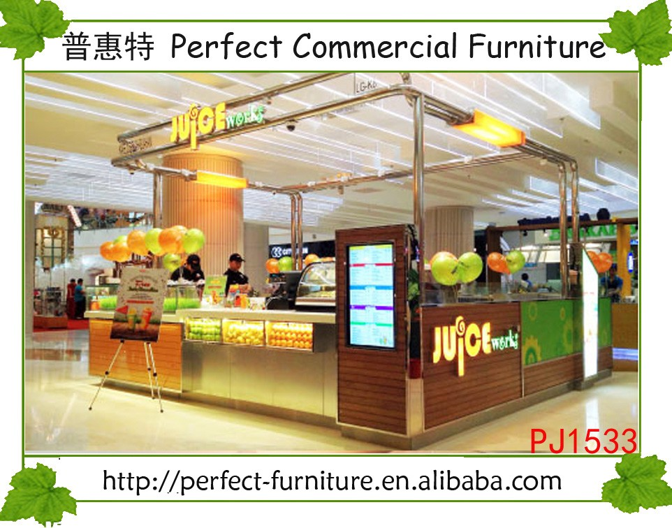 Retail Juice Store Interior Design Fast Food