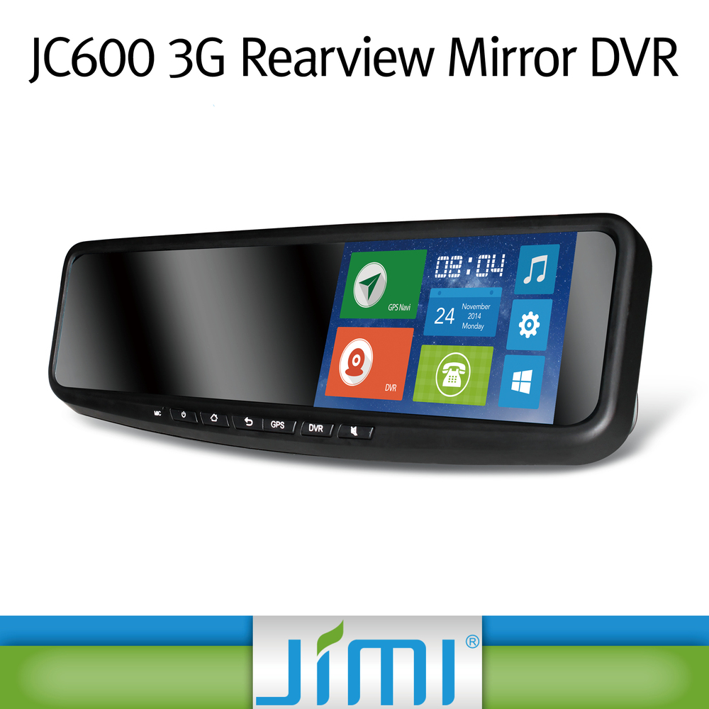 JIMI 3g andriod bluetooth smart car gps multimedia navigator rearview mirror