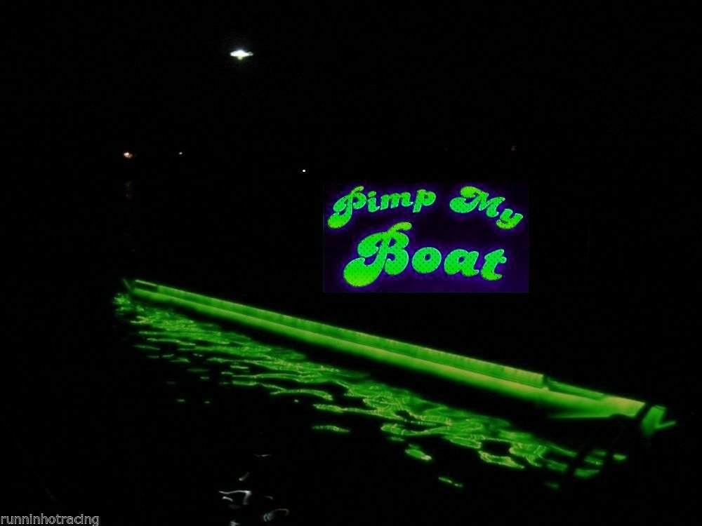 Green Blob Outdoors Pimp My Pontoon GREEN LED Boat Deck Lighting Kit with bonus Red & Green Navigation lights DIY Pontoon Under Deck Lighting kit for Pontoon Boats of all Sizes by