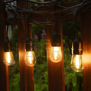 48 Foot outdoor Weatherproof flexible led Light string Hanging Sockets Perfect Patio Lights