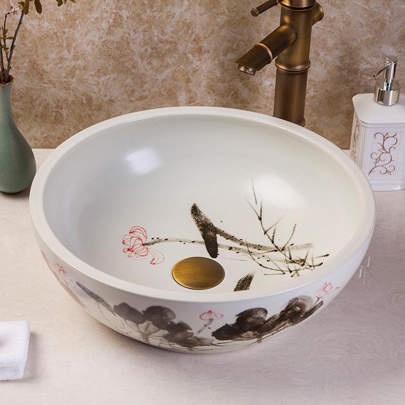 online kaufen gro handel keramik waschbecken aus china keramik waschbecken gro h ndler. Black Bedroom Furniture Sets. Home Design Ideas