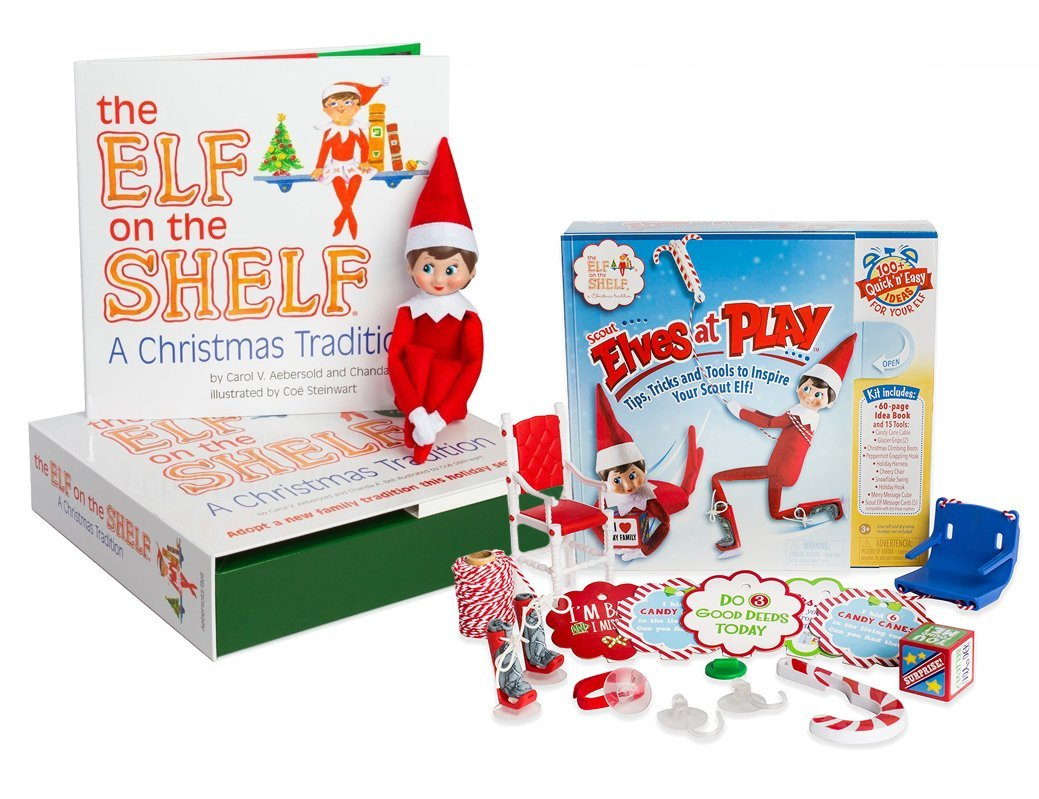 The Elf on the Shelf: A Christmas Tradition - Blue Eyed North Pole Elf Girl with Elves at Play Kit