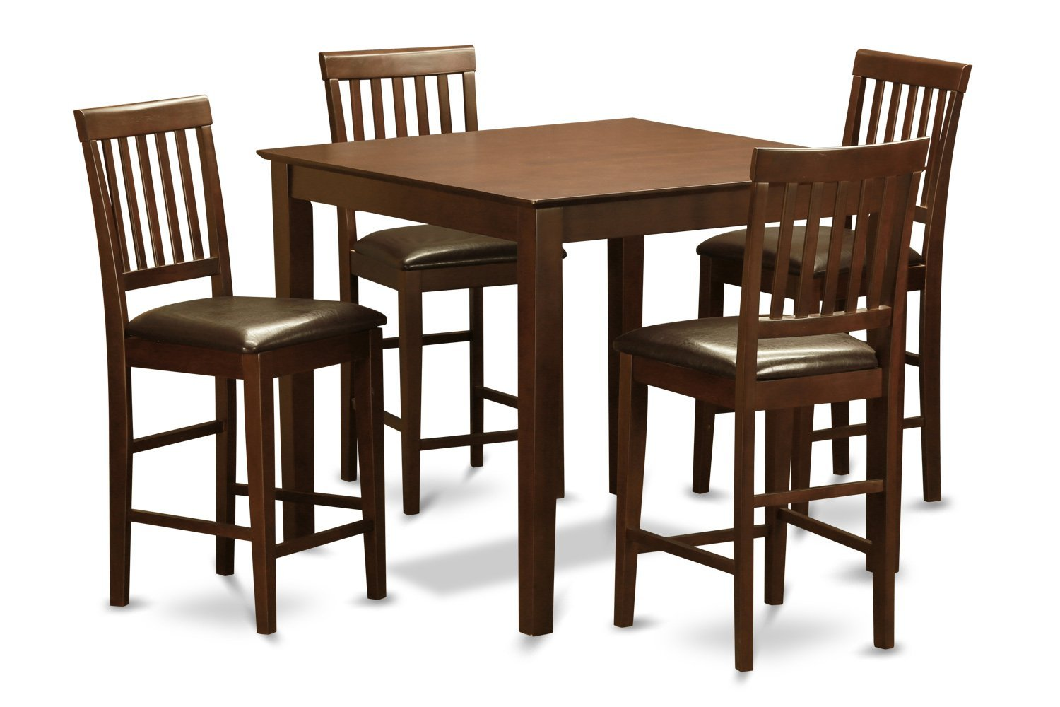 East West Furniture EWVN5-MAH-LC 5-Piece Gathering Table Set