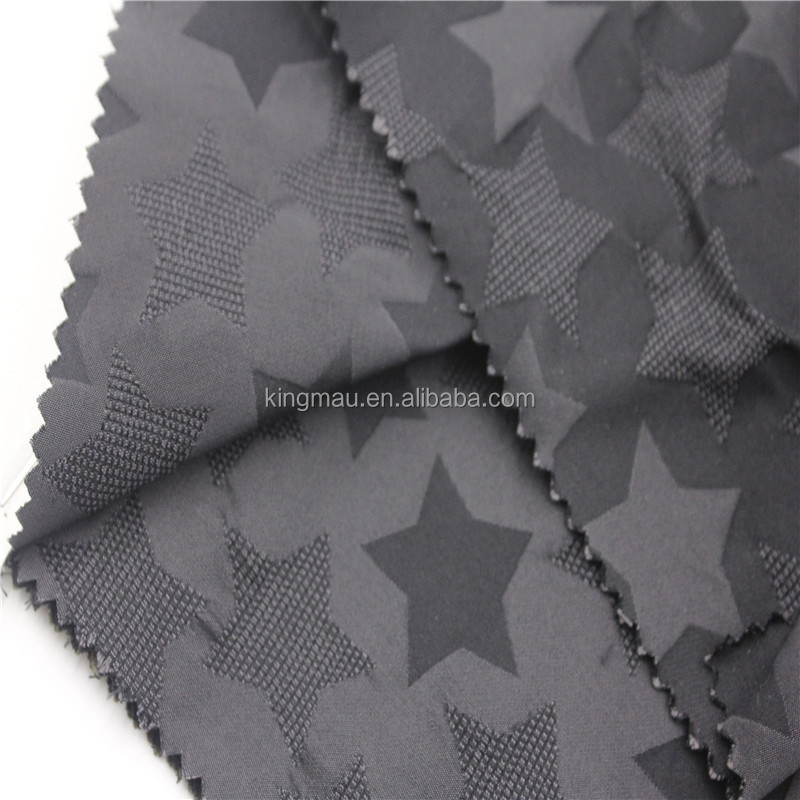 poly star pattern jacquard embossed fabric price per meter
