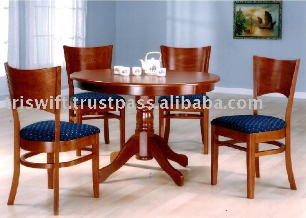 Mesa comedor redonda conjunto Silla de comedor de madera  : Round Dining Table Set Wooden Dining Chair from spanish.alibaba.com size 610 x 435 jpeg 46kB